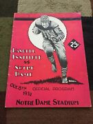 1932 Notre Dame Vs Haskell Institute College Football Game Program