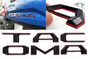 Double Layer Tailgate Insert Letters Fits 2016-2021 Toyota Tacoma Black Red