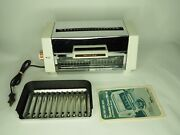 Proctor Silex Oven Toaster Broiler White 0804wb Vintage Rare Complete