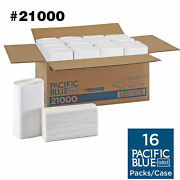 Paper Towels 21000 Pacific Blue Select 16 Packs 2-ply Multifold White