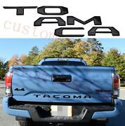 Tailgate Insert Tailgate Letters Fits 2016-2021 Toyota Tacoma Black Domed