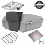 Unpainted Chopped Tour Pak Pack Trunk Luggage For Harley Davidson Touring 97+