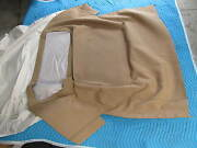 1963-67 Corvette Beige Convertible Top And Pads Stayfast -mercedes Type Material