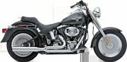 Cobra Chrome Straight Power Pipe Motorcycle Exhaust 07-11 Harley Softail Flstf