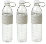 Copco Hydra Water Bottle Non Slip Sleeve Bpa Free Plastic 20 Oz Pack Of 3 Gray