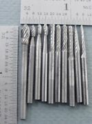 New Solid Carbide Bits Cutting Tools 1/8 Shank Dremel Foredom Top Quality 10 Pc
