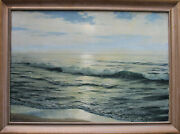 Waldemar Schlichting German 1896-1970 Oil Painting Seascape Signed
