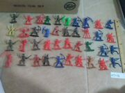 Kt176 Vintage Cowboy And Indian Toy Figures Mixed Lot Tim Mee Hong Kong Mpc