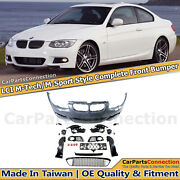 M-sport Style Front Bumper Cover Kit For Bmw E92 3-series 11-13 Fog Lights Pair