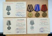 Ww Ii Soviet Ussr Medal And Document For Liberation Prague