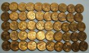 1948-s 1c Cent Lincoln Wheat Full Roll 50 Coins Penny Lot Set Uncirculated Lg273