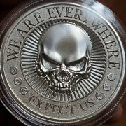 2oz Anon We Are Everywhere Expect Us .999 Fine Silver Deuce Four ▪high Relief