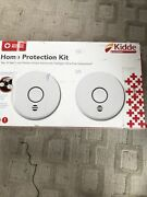 Kidde Home Protection Kit Two 2 Wire-free Sealed Battery Smoke Alarms