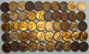 1937-p 1c Cent Lincoln Wheat Full Roll 50 Coins +tube Uncirculated Lg277