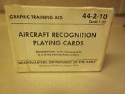 Aircraft Recognition Playing Cards Headquarters Department Of The Army V/g Used