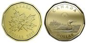 🇨🇦 Two Beautiful Canadian Loonies 1 Dollar Coins, O Canada And Loonie, 2019