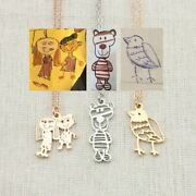 Customized Children's Drawing Necklace Kids Artwork Personalized Photo Logo Gift