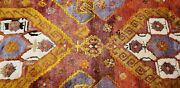 Pre-1900and039s Antique Natural Dye Wool Pile Armenian Area Rug 4and0394x6and039
