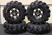 Yamaha Grizzly 660 25 Executioner Atv Tire And Ss212 Black Wheel Kit Irs1ca