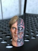 Hot Toys Mms81 Harvey Dent Two Face Head Sculpt 1/6 Scale