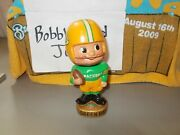 1961-66 6.5 Green Bay Packers Bobblehead Nodder Gold Base 1960s Vintage Toes Up