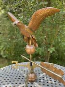 Large Vintage Copper Eagle Weathervane 22andrdquowide Wing Span 48andrdquo Tall