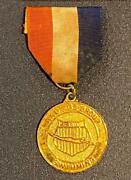 Vintage Aau Age Group Gold Swimming Medal W/ Ribbon