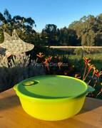 Tupperware Crystalwave Ezywave 3l Round Microwave Bowl Parrot And Lime Green