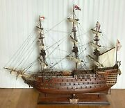 Hms Victory Ship Model With Base Comes With Display Table