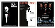 Classic Gangster Movies - Poster Set Scarface Goodfellas And The Godfather
