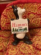 Vtg 60and039s Red Wing Hammand039s Beer Bear Sascha Piggy Bank Ad Advertising Sign Ceramic