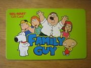Wal Mart Family Guy Collectible Gift Card Lot Of 98