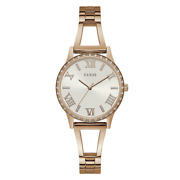 Guess Watch New Lucy W1208l3 Ladies Rose Gold/bronze Stainless Steel