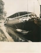 1952 Les Barges Hollande Exposition Plan Marshall 18 Photo Photographie Usa