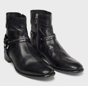Size 13 John Varvatos Leather Boot Shoe Made Italy Reg899 Sale699