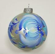 Silver Blue Floral Ornaments For Christmas Tree Ornaments With Names And Dates