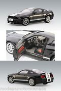 2007 Ford Mustang Shelby Gt500 Black With White Stripes 118 By Autoart