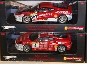 Lot Of 2 Ferrari F430 Challenge Race Cars 4 And 102 118 By Hot Wheels Elite