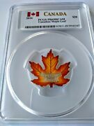 2016 Canada 20 1oz Silver Proof Canadian Maple 🍁 Pcgs Pr69dcam Colorized Coin