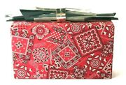 Gorgeous Edie Parker Paisley Red And White Clutch Bag Rare Design
