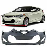 Front Bumper Cover For 2012-2016 Hyundai Veloster W/ Fog Lamp Holes Primed