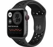 Apple Watch Series 6 Cellular Space Grey Aluminum And Black Nike Sports Band 44 Mm