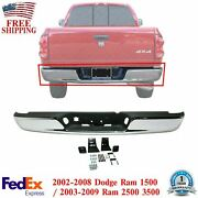 Rear Step Bumper Chrome Steel Assembly For 2004-2008 Dodge Ram 1500 2500 3500 Hd