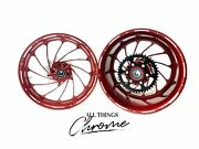 240 Fat Tire Crimson Red Turbo Wheel Package 2003 And 2004 Honda Cbr1000rr