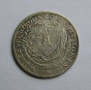 Great Britain Silver Shilling 1811 Worcester City County. Rare.