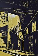Rick Amor The City - Original Screenprint Cityscape Signed Collectible + Lop