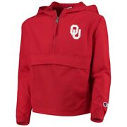 Champion Collegiate Men's Jacket Hooded Oklahoma Sooners Packable Jackets Red M