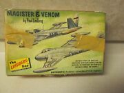 Vintage Fouga Magister And Venom Authentic Plastic Construction Planes Look