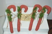 Farmhouse Primitive Folk Art Candy Canes Christmas Ornies Fillers Tuck Country