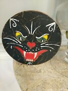 Primitive Halloween Cat Scared Box Signed By Artist Rick Conant Character